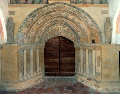 Ancienne église prieurale - Français:   Mimizan Clocher-porche Portail