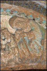 Ancienne église prieurale - Français:   Mimizan Clocher-porche Tympan Joseph