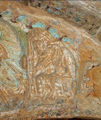 Ancienne église prieurale - Français:   Mimizan Clocher-porche Tympan Salomé