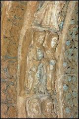 Ancienne église prieurale - Français:   Mimizan Clocher-porche voussure 1 claveau 2