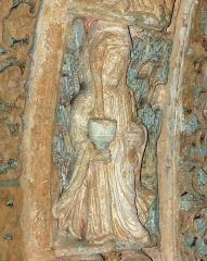 Ancienne église prieurale - Français:   Mimizan Clocher-porche voussure 1 claveau 3