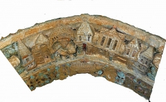 Ancienne église prieurale - Français:   Mimizan Clocher-porche voussure 1 claveau 5