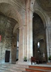 Eglise Saint-Géraud - Français:   Monsempron-Libos - Église Saint-Géraud - Croisée du transept et dernière travée de la nef