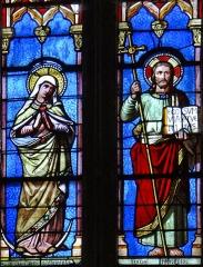 Eglise Saint-Géraud - Français:   Monsempron-Libos - Église Saint-Géraud - Vitraux du choeur: Jésus rédempteur