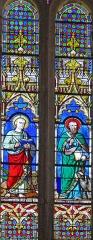 Eglise Saint-Géraud - Français:   Monsempron-Libos - Église Saint-Géraud - Vitraux du choeur: les évangélistes saint Jean et saint Luc