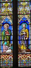 Eglise Saint-Géraud - Français:   Monsempron-Libos - Église Saint-Géraud - Vitraux du choeur: les évangélistes saint Matthieu et saint Marc
