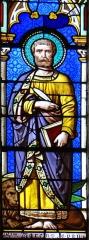 Eglise Saint-Géraud - Français:   Monsempron-Libos - Église Saint-Géraud - Vitrail du choeur: évangéliste saint Marc