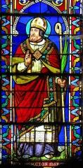 Eglise Saint-Géraud - Français:   Monsempron-Libos - Église Saint-Géraud - Vitrail de la façade