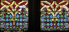 Eglise Saint-Géraud - Français:   Monsempron-Libos - Église Saint-Géraud - Vitrail du choeur: détail du décor