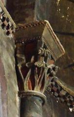 Eglise Sainte-Livrade - Français:   Sainte-Livrade-sur-Lot - Église Sainte-Livrade - Nef - Abside: chapiteau