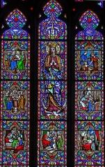 Eglise Sainte-Livrade - Français:   Sainte-Livrade-sur-Lot - Église Sainte-Livrade - Verrière de la Vie de la Vierge de la chapelle de la Vierge par la maître-verrier lyonnais François Gay (1868)