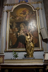 Eglise Saint-Vincent - English:  Chapel of the Virgin, furnished and decorated by a rich family of shipowners.   Frame: The Adoration of the Child.