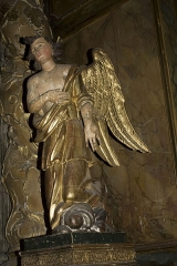 Eglise Saint-Vincent - English:  Angel in adoration, on the right of the high altar (Note the haircut!).