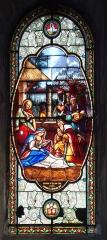Eglise Saint-Vincent -  Ciboure (Pyr-Atl., Fr) St.Vincent, stained glass window of the Adoration, signature: