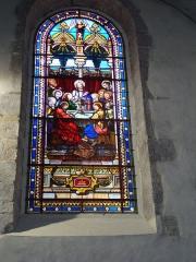Eglise Saint-Vincent - English: Ciboure (Pyr-Atl, Fr) St.Vincent, stained glass window The Last Supper, signature:
