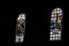Eglise Saint-Vincent - Deutsch: Kirche Saint-Vincent in Ciboure im Département Pyrénées-Atlantiques (Region Aquitaine-Limousin-Poitou-Charentes/Frankreich), Bleiglasfenster