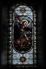 Eglise Saint-Vincent - Deutsch: Kirche Saint-Vincent in Ciboure im Département Pyrénées-Atlantiques (Region Aquitaine-Limousin-Poitou-Charentes/Frankreich), Bleiglasfenster; Darstellung: Erzengel Michael