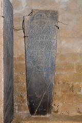 Eglise Saint-Blaise - English:  Gravestone of Engâce Cazenave, widow of Daniel Mercatbide(✝1744).