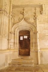 Eglise Saint-Girons - Français:   Arc en accolade et anse de panier, gothique flamboyant
