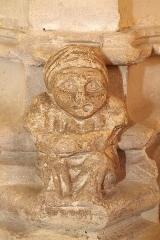 Eglise Saint-Girons - Français:   Petit personnage à la base d\'un pilier du bas-côté nord