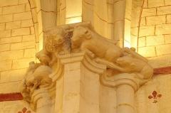 Eglise Saint-Girons - Français:   Chiens, lion et bœuf