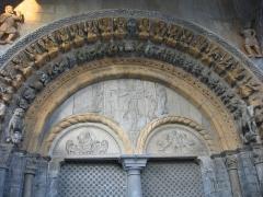 Eglise Sainte-Marie -  The portail of the church of Sainte-Marie in Oloron-Sainte-Marie