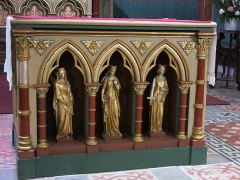 Eglise Saint-André - English: Altar in the Saint-Andrew church in Sauveterre-de-Béarn (Pyrénées-Atlantiques, France).