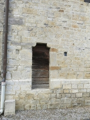 Eglise Saint-André - English: Door of cagots (exterior) of the Saint-Andrew church in Sauveterre-de-Béarn (Pyrénées-Atlantiques, France).