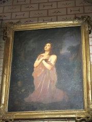 Eglise Saint-André - English: Painting of Mary Magdalen at the desert in the Saint-Andrew church in Sauveterre-de-Béarn (Pyrénées-Atlantiques, France). 17th century.