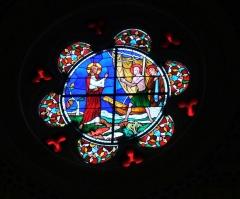 Eglise Saint-André - Deutsch: Bleiglasfenster in der Kirche Saint-André in Sauveterre-de-Béarn (Frankreich)