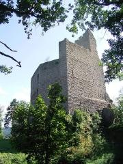 Ruines du château de Spesbourg - English: Keep of the Spesbourg castle, Bas-Rhin, France