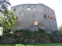 Ruines du château de Spesbourg - English: Spesbourg castle, Bas-Rhin, France