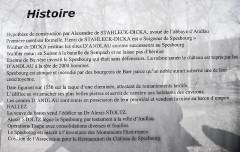 Ruines du château de Spesbourg - Français:   Panneau informatif