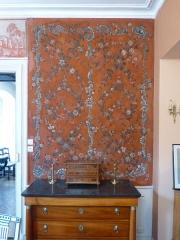 Ancien Hôtel Marco - Français:   Fresque ancienne (18e s.?), d\'abord recouverte de plusieurs couches de papier peint, au Musée de la Folie Marco à Barr (Bas-Rhin).