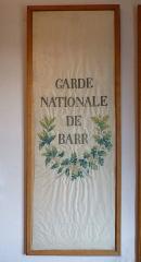 Ancien Hôtel Marco - Français:   Partie centrale (blanche) du drapeau en soie brodée de la Garde nationale de Barr (le bleu et le rouge ont été réemployés après 1848), 1830. Musée de la Folie Marco à Barr (Bas-Rhin).