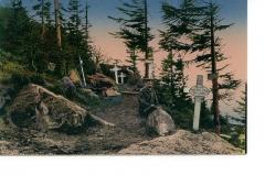 Sommet et musée du Donon -  Carte postale de 1915 - Heldengräber am kleinen Donon.