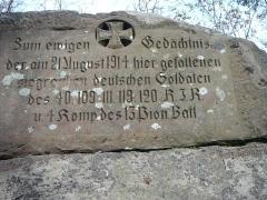 Sommet et musée du Donon -  monument du sommet du Petit Donon (67) réalisé pendant la 1ère guerre mondiale par le Gefreiter Ghebardt