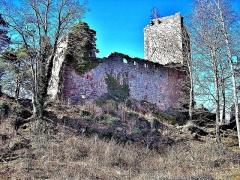 Vestiges du château de Landsberg - Français:   Château du Landsberg, vu de la basse-cour. Heiligenstein. Bas-Rhin
