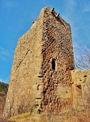 Vestiges du château de Landsberg - Français:   Le donjon carré, du château du Landsberg. Heiligenstein. Bas-Rhin.