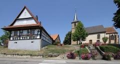 Eglise simultanée Saint-Jean-Baptiste de Hohwiller - Deutsch: Kirche St. Johannes der Täufer in Hohwiller.