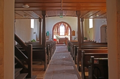 Eglise simultanée Saint-Jean-Baptiste de Hohwiller - Deutsch: Kirche St. Johannes der Täufer in Hohwiller, Innenausstattung.