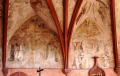 Eglise simultanée Saint-Jean-Baptiste de Hohwiller - Deutsch: Kirche St. Johannes der Täufer in Hohwiller, Fresken im Chor