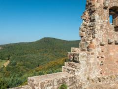 Ruines du château de Fleckenstein - English: View from Fleckenstein Castle