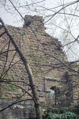 Ruines du château Guirbaden - Deutsch: Burg Girbaden. Eingang zum Palas