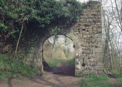 Ruines du château Guirbaden - Deutsch: Burg Girbaden. Toranlage der Vorburg