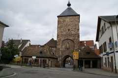 Enceinte médiévale de la ville (vestiges du mur) - English: Porte des Forgerons (Smiths' Gate) in Molsheim, Alsace, France