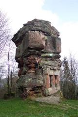 Ruines du château de Wasenbourg -  At Château de Wasenbourg, near Niederbronn-les-Bains, France.