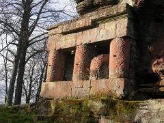 Ruines du château de Wasenbourg -  Temple de Mercure, Château du Wasenbourg, France