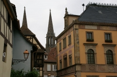 Hôtel de ville - English: Hôtel de Ville (Town Hall) and Saints-Pierre-et-Paul-Church in Obernai, France