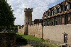 Vieux remparts - English: City wall and tower at Obernai, Alsace, France